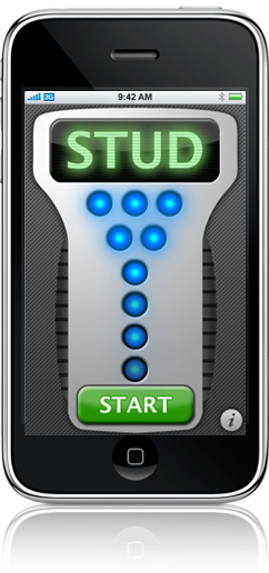 How does iphone stud finder app work